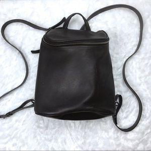 Vintage Nine West Leather Mini Zipper Backpack